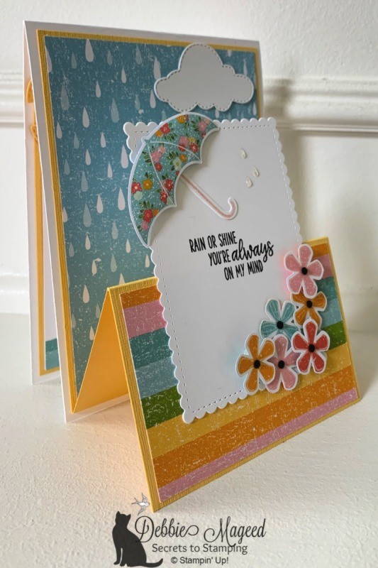 Pretty Spring Card Featuring Under My Umbrella by Stampin' Up!