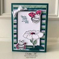 Cute Little Ladybug Card Sending Hugs for the Sisterhood of Crafters