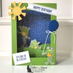 So Hoppy Together Fun Fold Birthday Card for the Alphabet Challenge