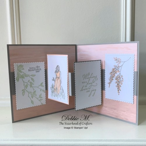 Fun Fold Card Featuring Wonderful Moments by Stampin' Up!