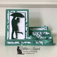 Silhouette Scenes Fun Fold Wedding Card for Cardz 4 Galz