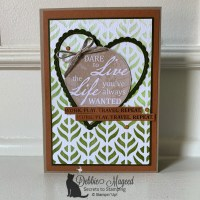 Stenciled Card for a World of Good at the Sisterhood of Crafters