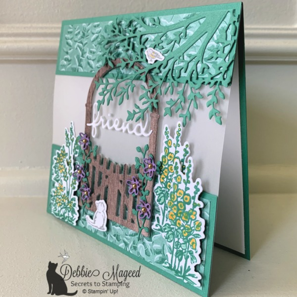 Pretty Scenic Card Featuring Graces Garden by Stampin' Up!