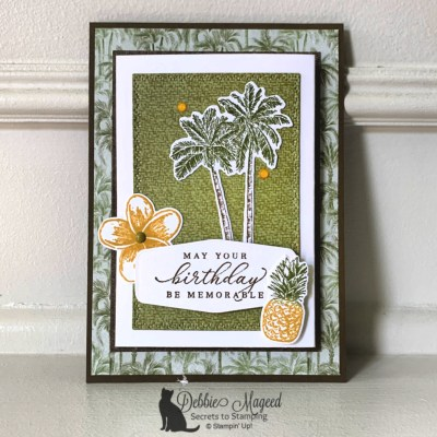 Timeless Tropical Fun Fold Gift Card Holder for the Alphabet Challenge