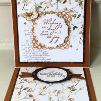 Beautiful birthday easel card featuring Very Versailles by Stampin