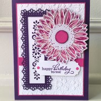 Cheerful Sunflower Birthday Card using Celebrate Sunflowers by Stampin