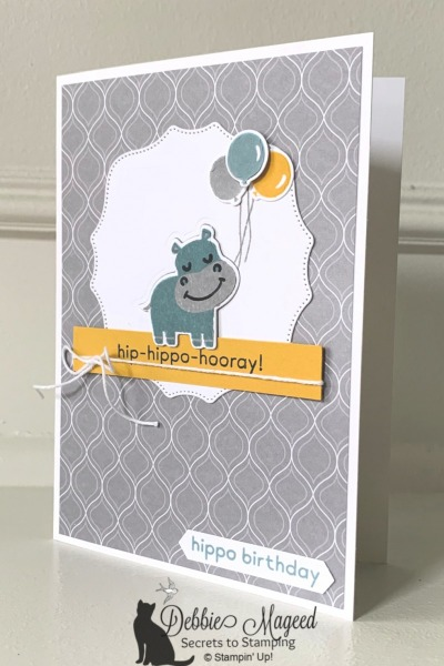 Fun Birthday Card with Hippo Happiness by Stampin' Up!