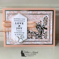 Elegant Wedding Card Featuring Last A Lifetime Stamp Set by Stampin