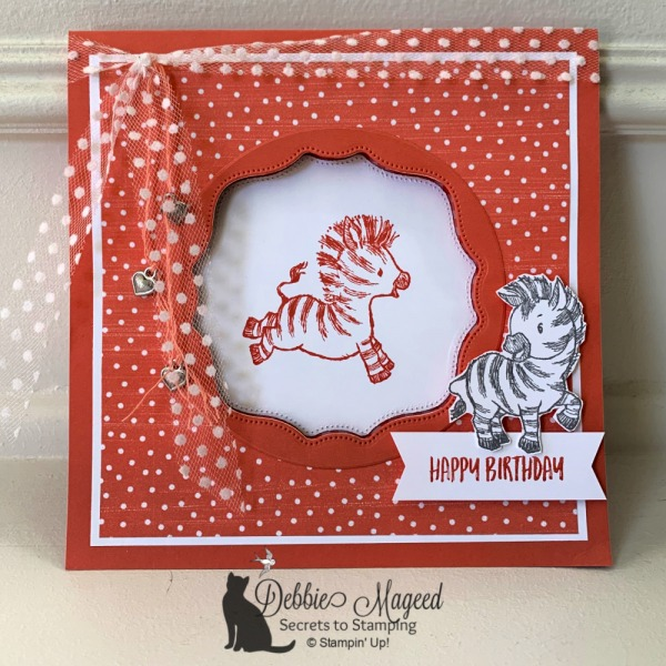 Fun Birthday Card Featuring Zany Zebras by Stampin' Up!