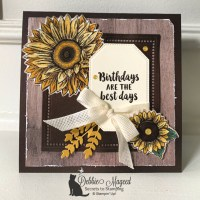 Beautiful Fall Card Featuring Celebrate Sunflowers by Stampin