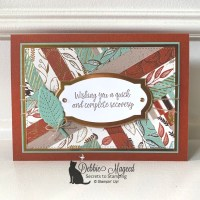 Gilded Autumn Herringbone Card for Make My Monday