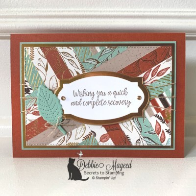 Gilded Autumn Herringbone Card for Make My Monday