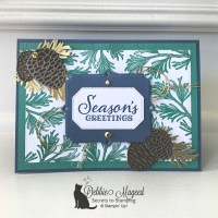 Rustic Christmas Card Featuring Peaceful Boughs by Stampin