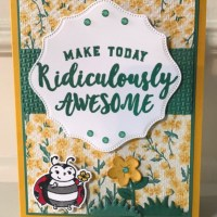 Pretty All Occasion Card Featuring Ridiculously Awesome by Stampin