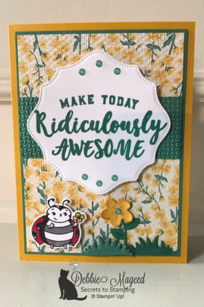 Pretty All Occasion Card Featuring Ridiculously Awesome by Stampin' Up!