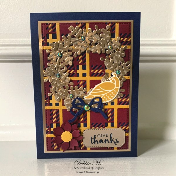 Thanksgiving Card Featuring Arrange A Wreath Stamp Set by Stampin' Up!