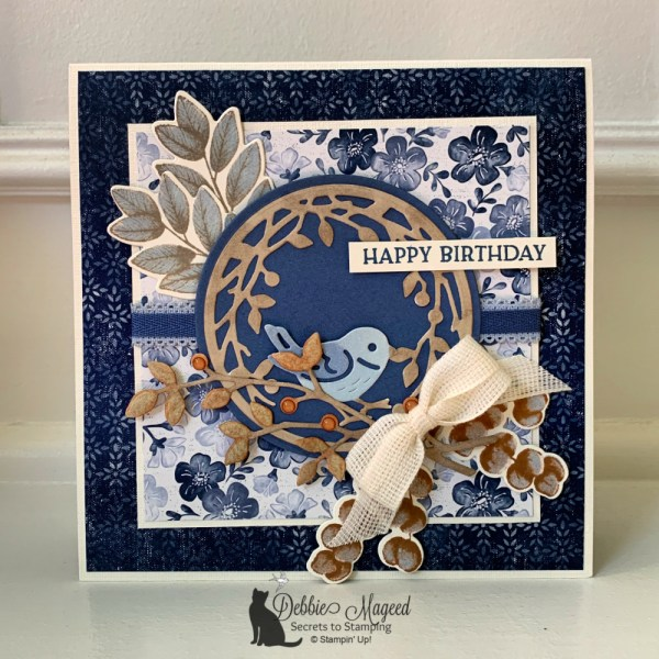 Feminine Birthday Card Featuring Birds & Branches Stamp Set by Stampin' Up!