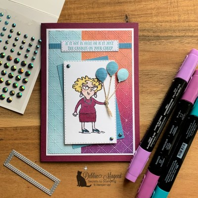 A Fun Birthday Card for Your Senior Years for the Alphabet Challenge