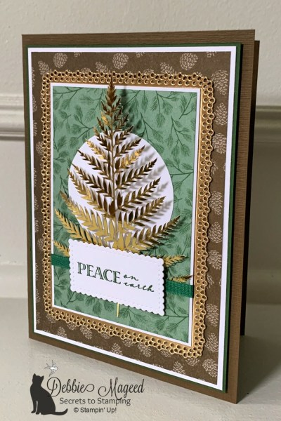 Holiday Card Featuring Wrapped In Christmas Stamp Set by Stampin' Up!