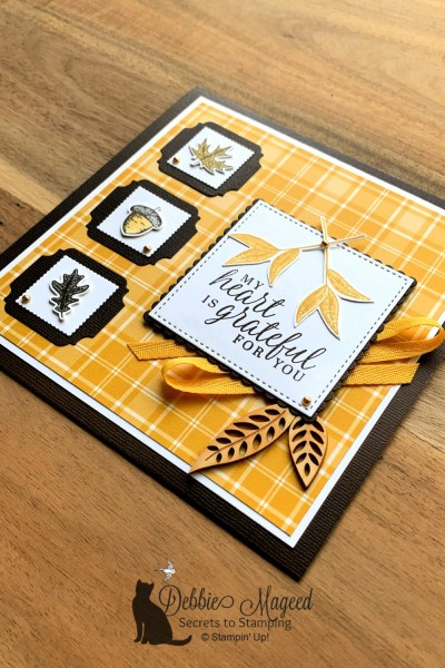 Thanksgiving Card Featuring Beautiful Autumn Stamp Set by Stampin' Up!