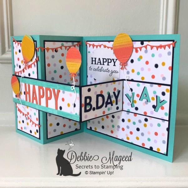 Festive Birthday Fun Fold Card