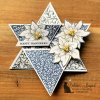 Hanukkah Card Featuring Poinsettia Petals by Stampin