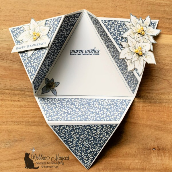 Hanukkah Card Featuring Poinsettia Petals by Stampin' Up!