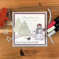 Christmas Card Featuring Snow Wonder Stamp Set by Stampin