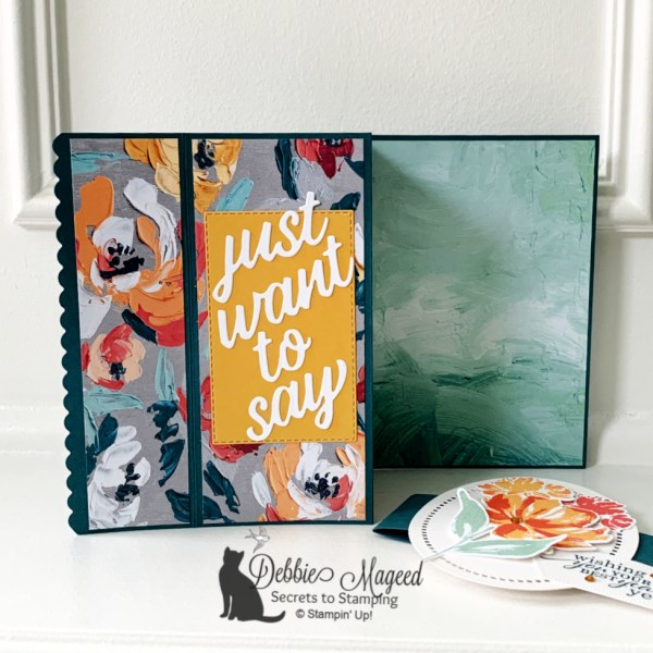 Fun Fold Birthday Card Featuring Art Gallery by Stampin' Up!