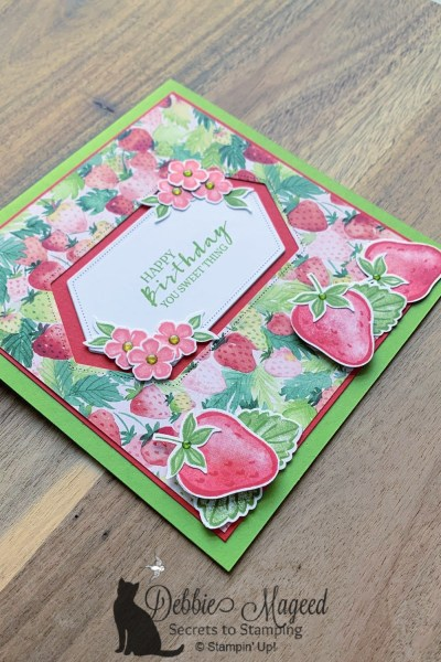 Sweet Strawberry Birthday Card by Stampin' Up!