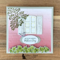 Pretty  and Feminine Welcoming Window Card for Cardz 4 Galz