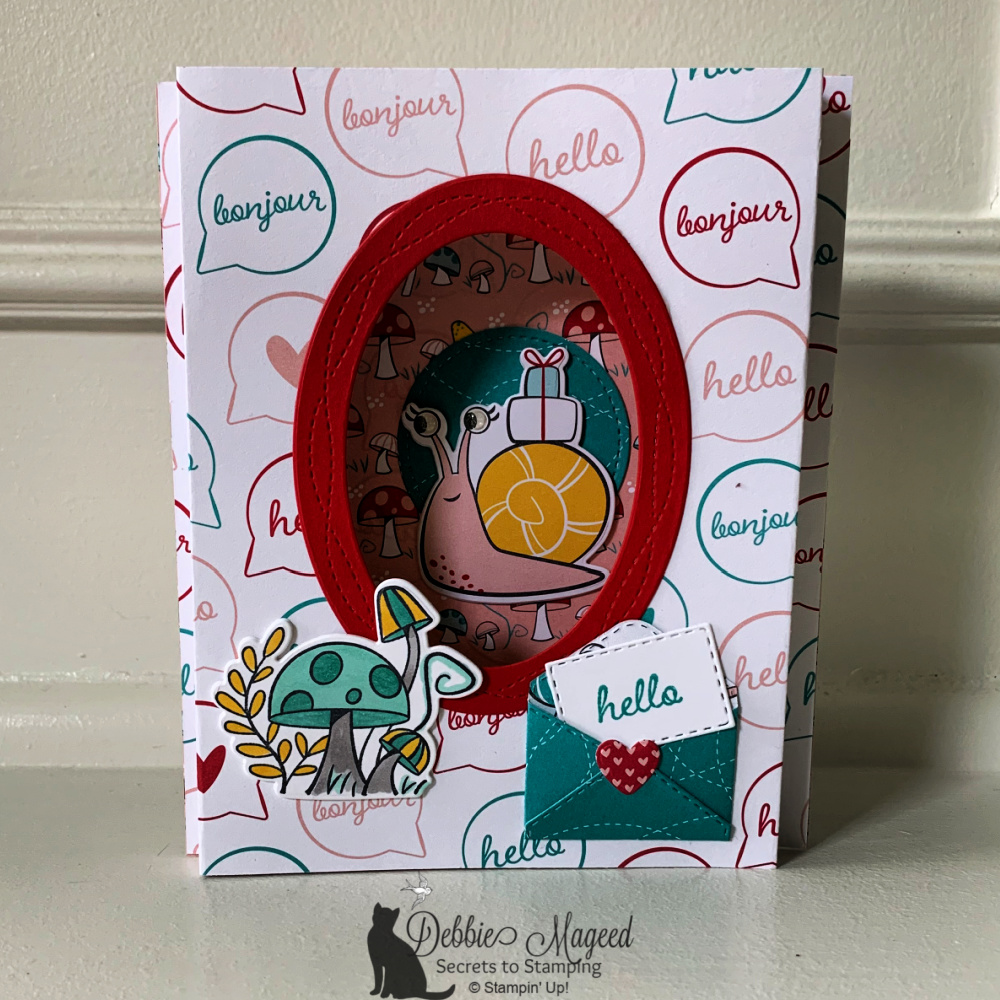 Snailed It Shadow Box Card for Creative Creases Challenge