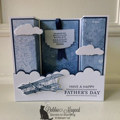 Soar Confidently Father's Day Bridge Card for the Creative Creases Challenge