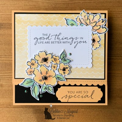Hand-Penned Petals Card for Happy Little Stampers Die Challenge