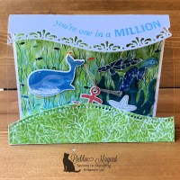 Whale Done Acetate Tent Card by Secrets To Stamping