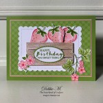 Sweet Strawberry Birthday Card for the Sisterhood of Crafters