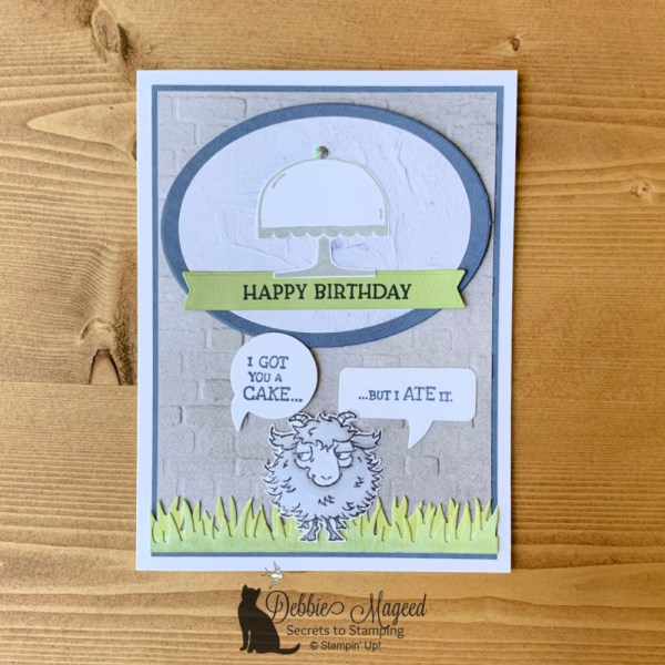 Way To Goat Birthday Card by Secrets To Stamping