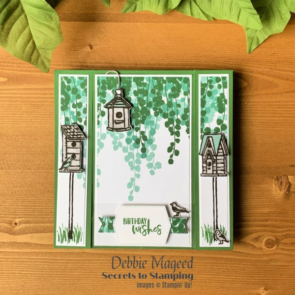 Garden Birdhouses Birthday Card by Secrets To Stamping