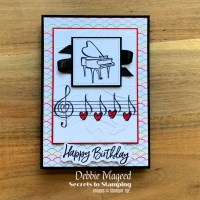 Music From My Heart Birthday Card by Secrets To Stamping