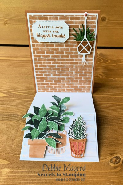 Double Easel Plentiful Plants Card by Secrets To Stamping