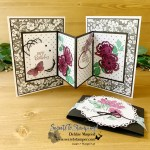 Hand-Penned Petals and Shaded Summer Card for Creative Creases
