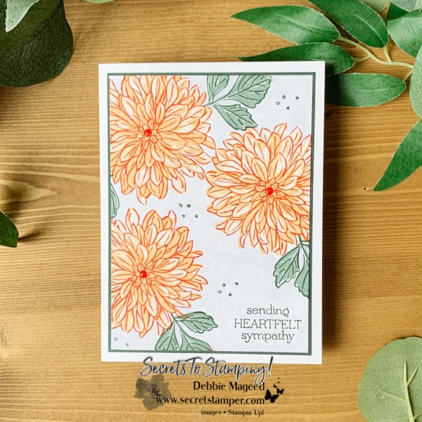Delicate Dahlias Card by Secrets To Stamping