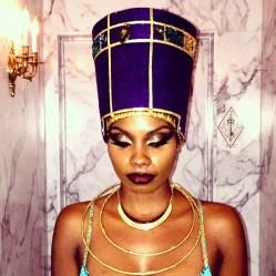 @lipstickcoco handmade her gorgeous Nefertiti costume