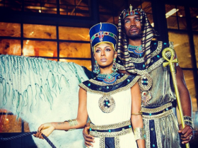 Keri Hilson & Sergio Ibaka as Queen Nefertiti & King Akhenaten