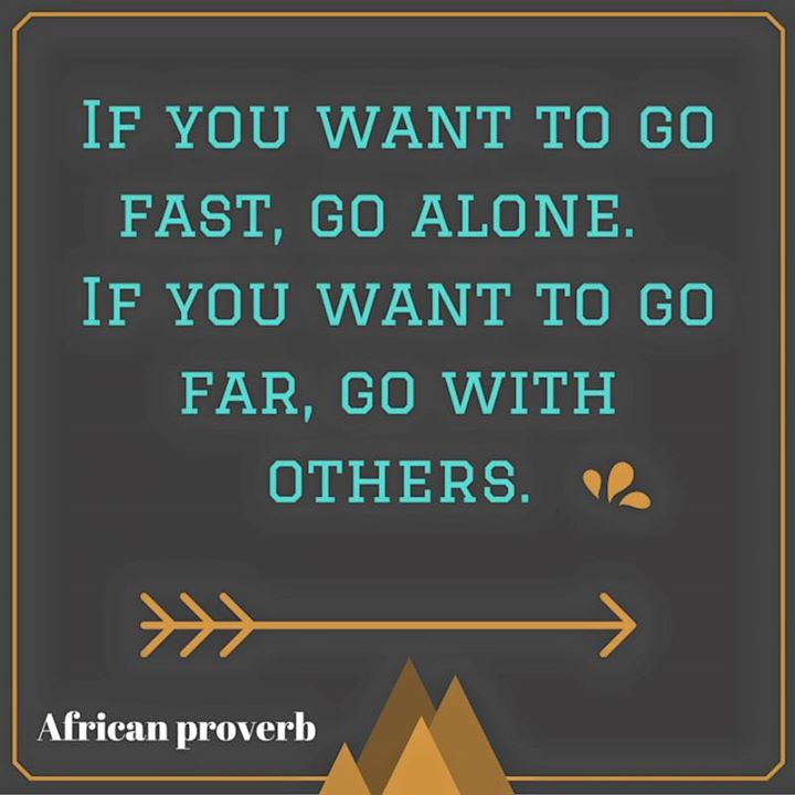 If you want to go fast, go alone...