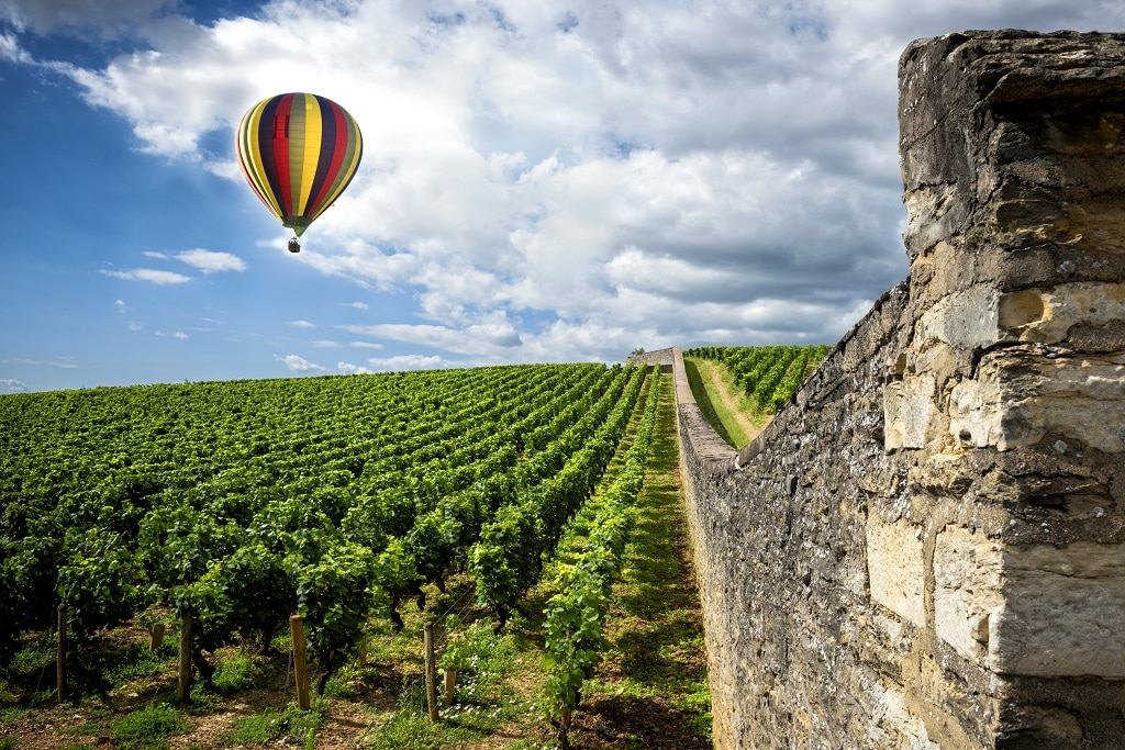 beaune hot air balloon wine tasting