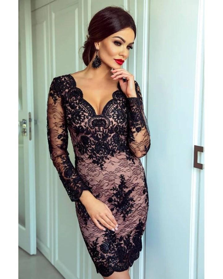 4129ff332d sukienka na uroczystą kolację - Secret Wish Boutique  3
