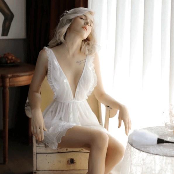 Screenshot_2020-04-07 47 15zł 45% OFF Sexy mus kobiety odzież do snu koronki krótka spódniczka, bez pleców, biały Lolita wy[…](1)