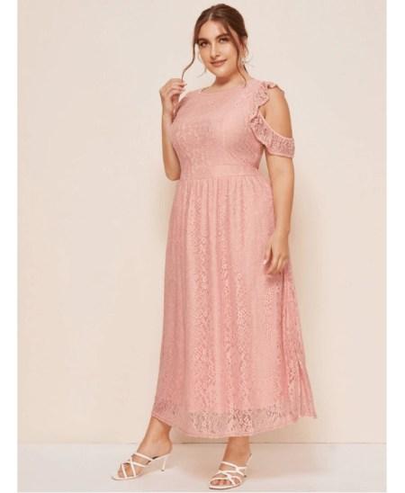 Lennia Sukienka Koronkowa Róż