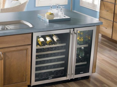 A Wine Cooler Fridge wouldn't be out of place in the kitchen